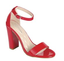 Get Even Block Heels Red