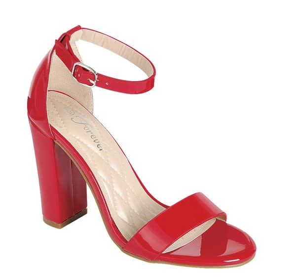 Get Even Block Heels Red