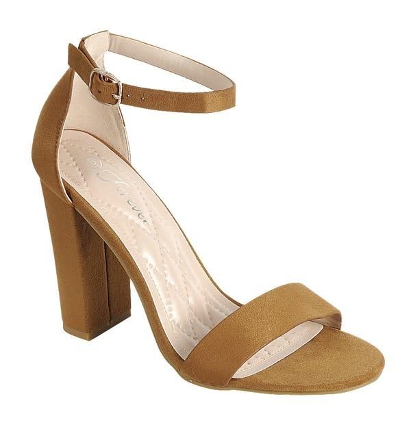 Get Even Block Heels Tan