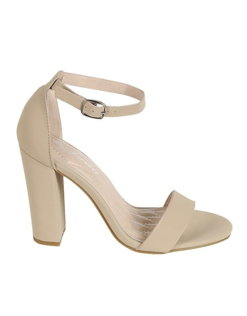 Get Even Block Heels Taupe