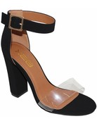 Born To Win Block Heels Black