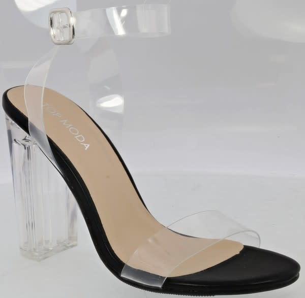 Cindy Clear Heels Black