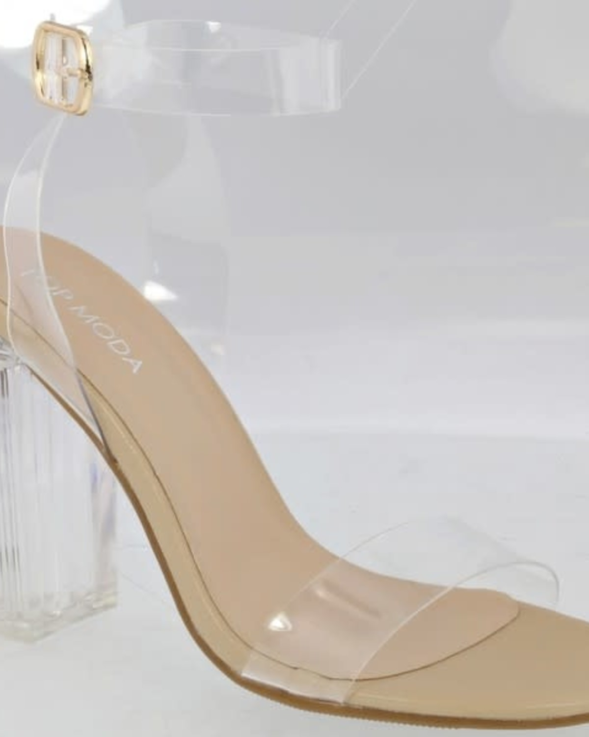 Cindy Clear Heels Nude