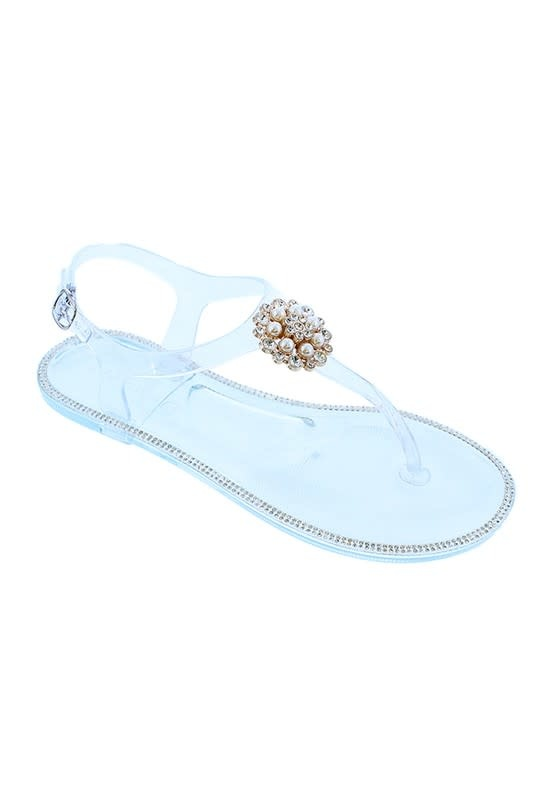 Strutin Jelly Sandals Clear