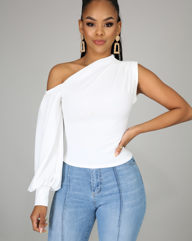 High Profile Top White