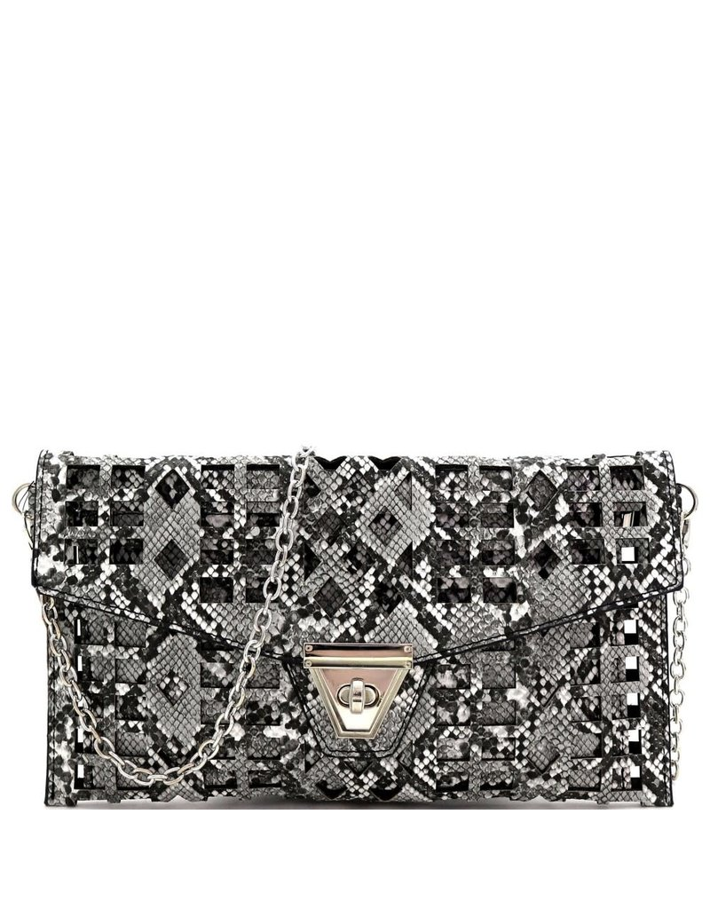 Midnight Lover Snakeskin Clutch