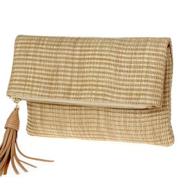 Love Me Longer Straw Clutch