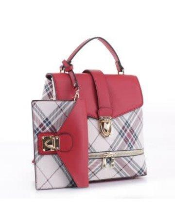Quit Playin Plaid Bag Set 2n1