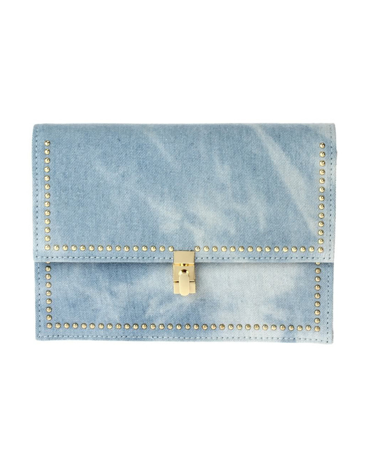 Never Enough Denim Clutch