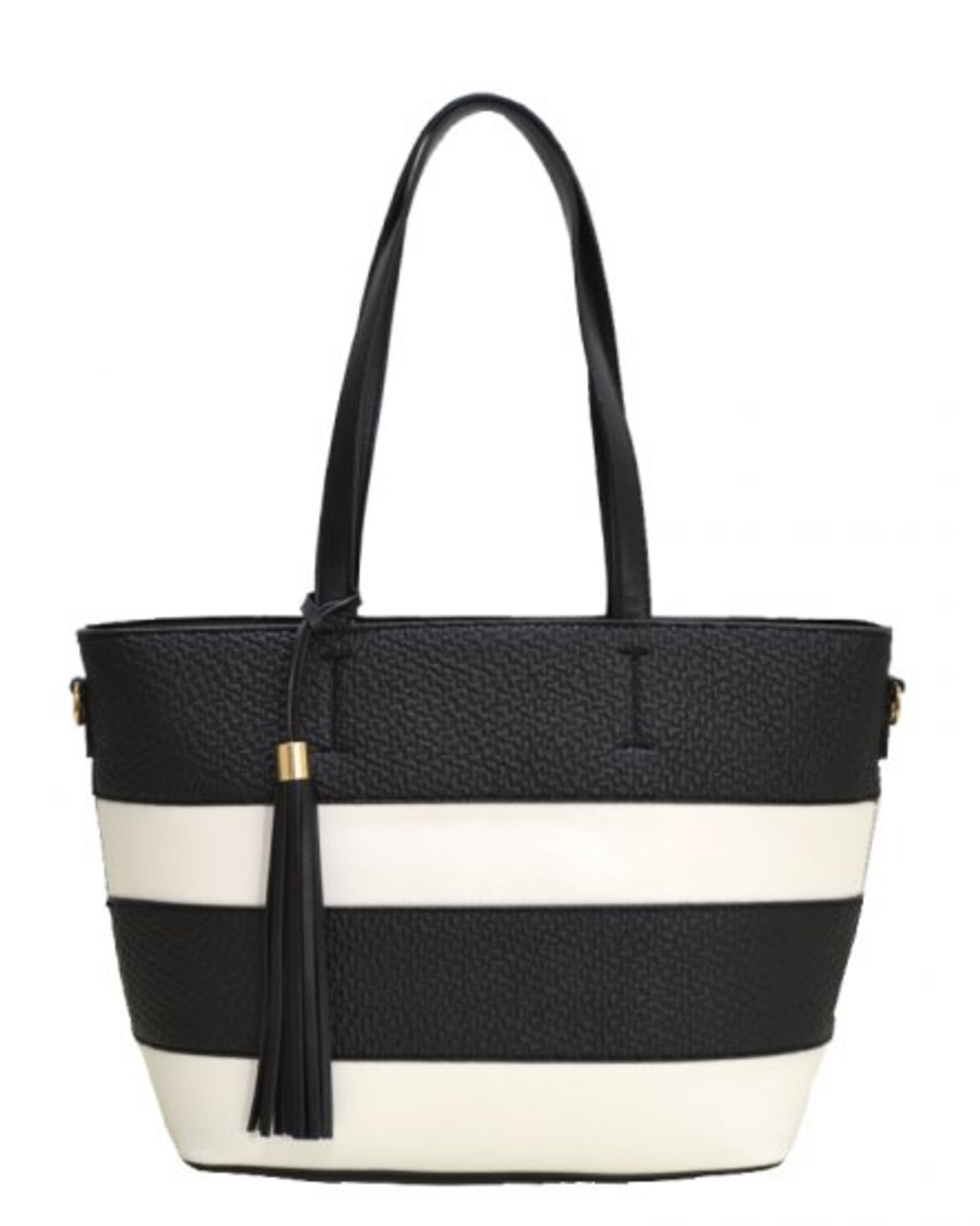Set It Straight Striped Handbag