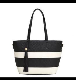 Set It Straight Striped Handbag