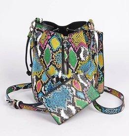 For The Love Snakeskin Bag