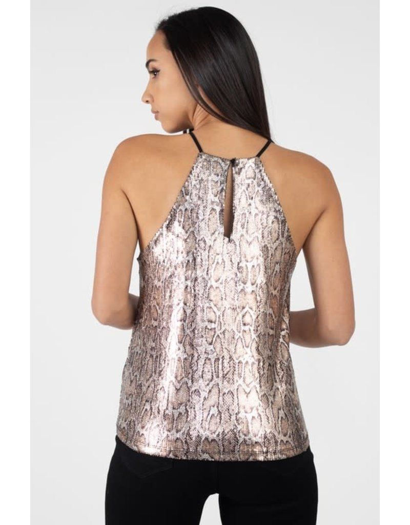 Acting Sneaky Snakeskin Top