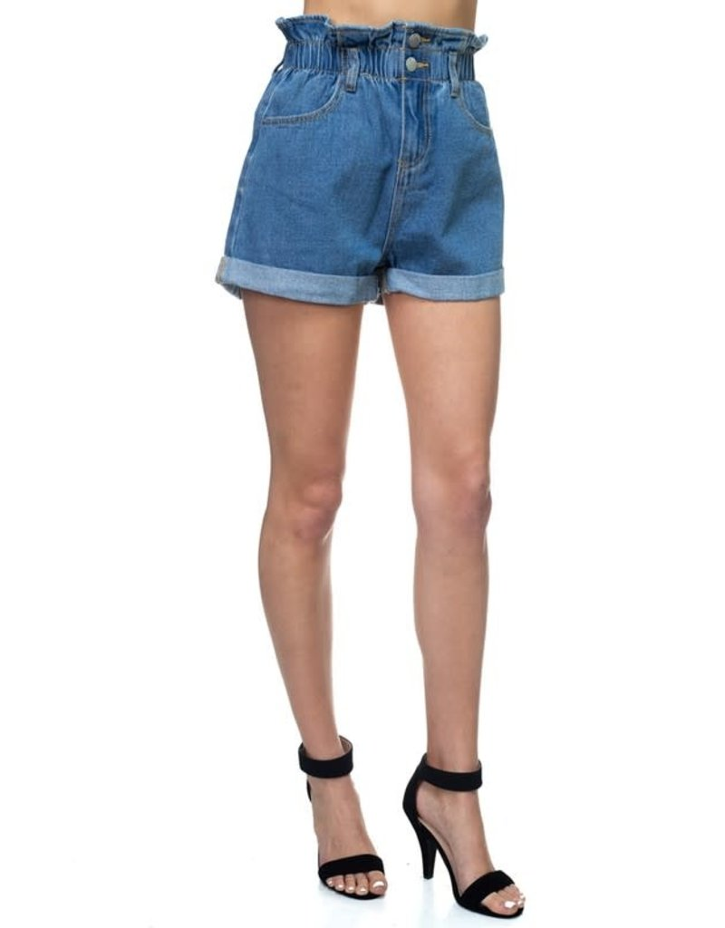 Brag Different Paperbag Denim Shorts