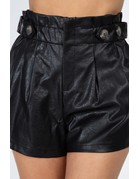 Icon Leather Paperbag Shorts
