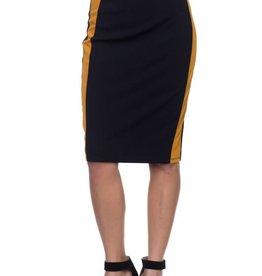 On Track Skirt Mustard