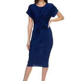 My Way Striped Dress Royal