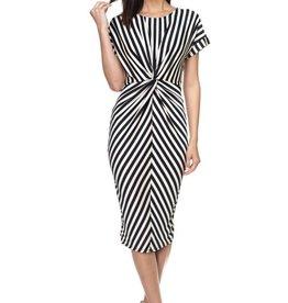 My Way Striped Dress White