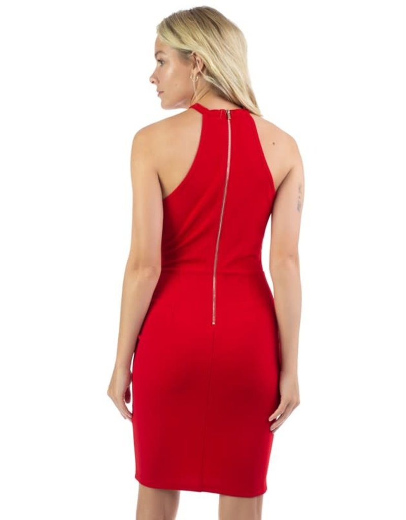 Treating Myself Bodycon Dress - Red