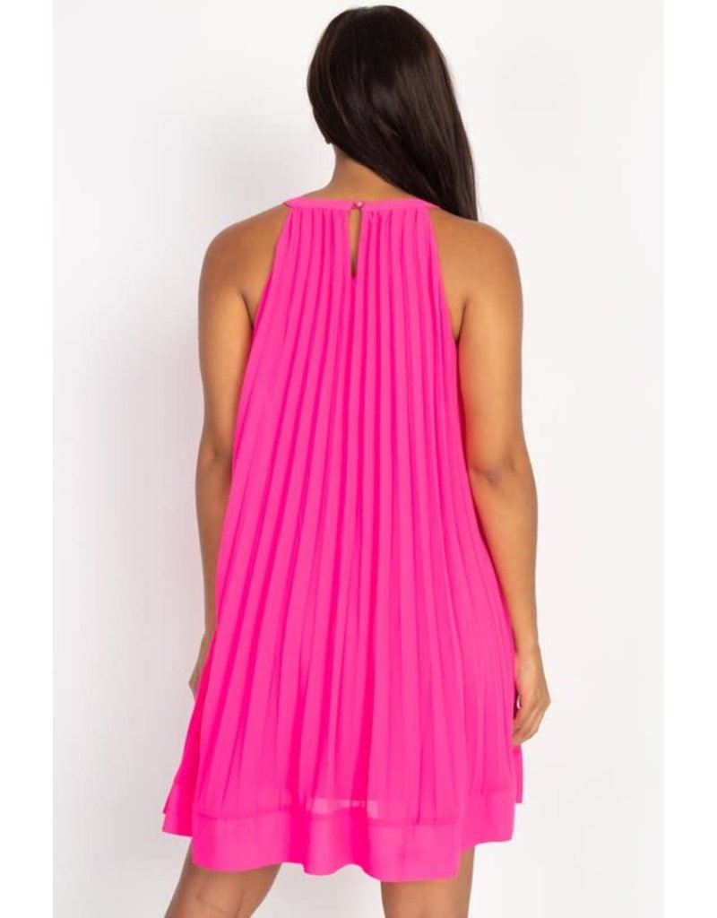 Need Some Time Dress Hot Pink