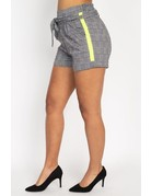 Switch It Up Plaid Shorts Neon Lime