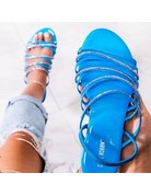 Let's Chill Sandals Blue