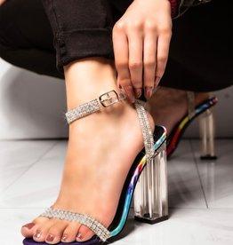 Pure Bliss Clear Block Heels Multi