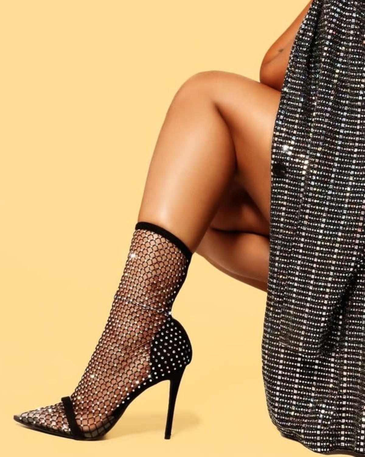 Celeb Status Fishnet Pumps