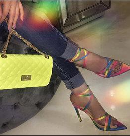 Girl's Weekend Heels - Rainbow