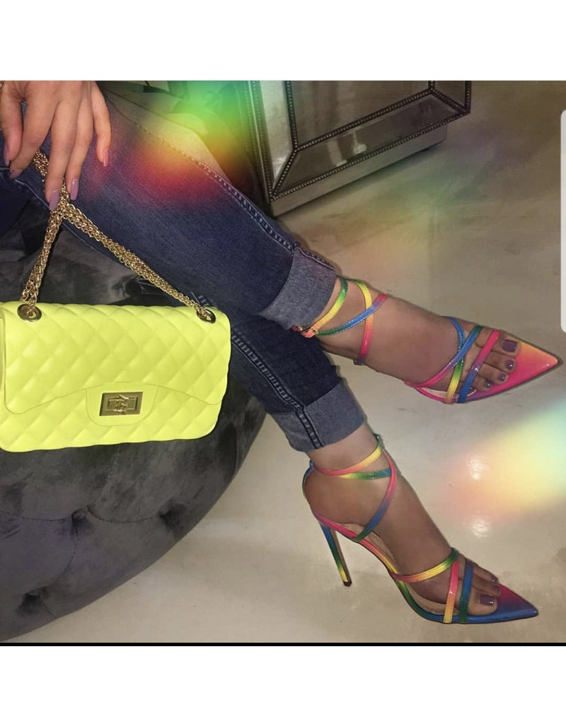 Girl's Weekend Heels - Rainbow