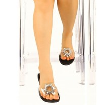 All That Glitters Sandals - Black