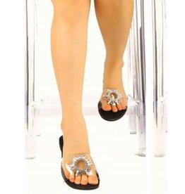 All That Glitters Sandals - Black