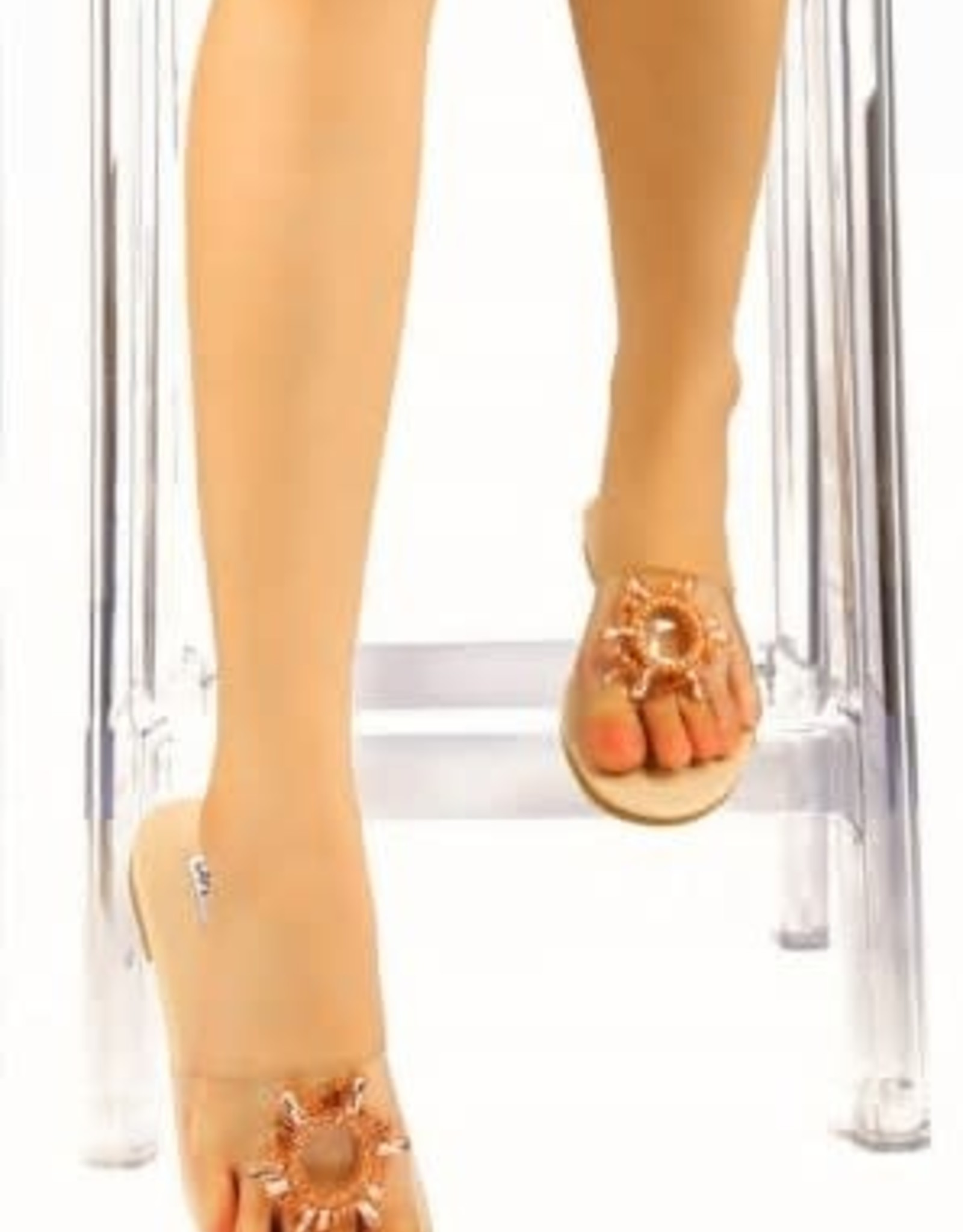 All That Glitters Sandals - Nude