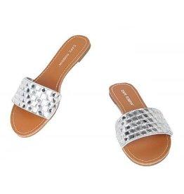 Glam Ego Sandals - Silver