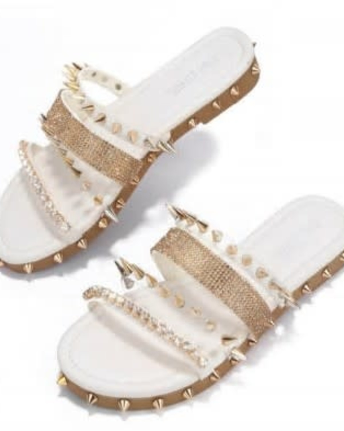 Wild At Heart Spiked Sandals - White