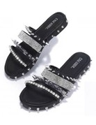 Wild At Heart Spiked Sandals - Black