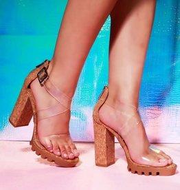 Take Me Out Block Heels - Cork
