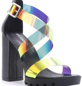 Take Me Out Block Heels - Black