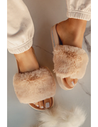 Feels Fur You Slides - Nude
