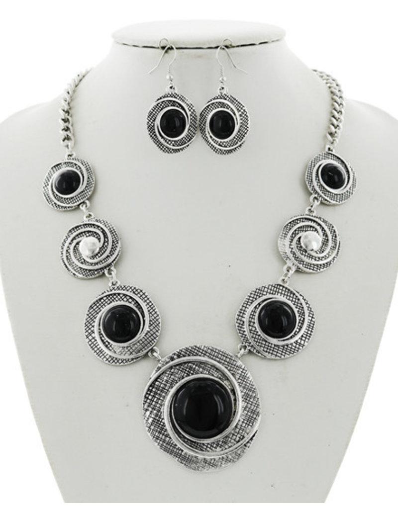 Circles Around Necklace Set