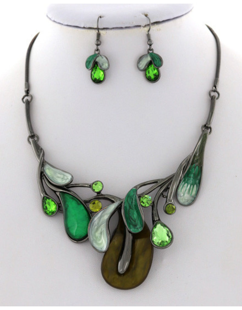 Lose Leaf Necklace Set