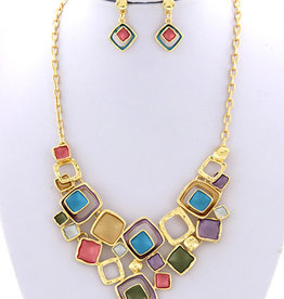 Puzzle Pieces Necklace Set