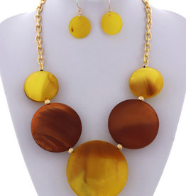 Full Moon Necklace Set