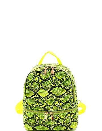 Be Afraid Snakeskin Backpack