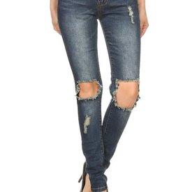 Peek A Boo Ripped Jeans