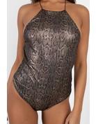 In A Frenzy Snakeskin Bodysuit