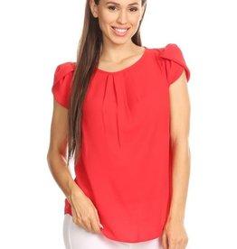 Red Tulip Sleeve Top