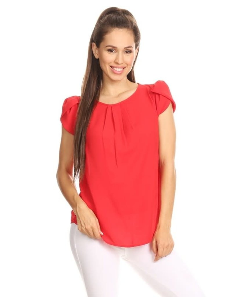 Red Tulip Sleeve Top