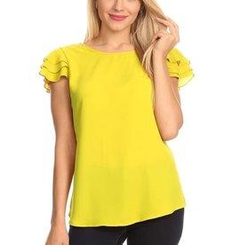 Lime Fairy Sleeve Top