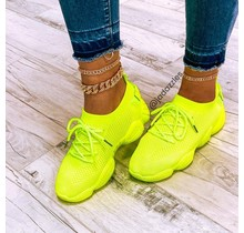 Kick It Sneakers Neon Yellow